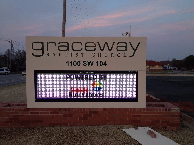 Electronic Message Centers Exterior Building Signs